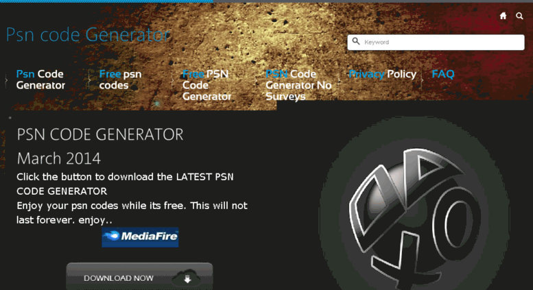 Access psncodegive com  PSN code Generator - Get our latest