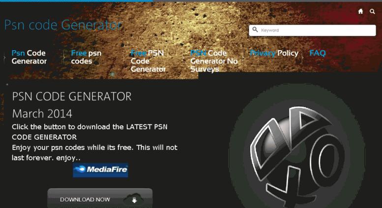 Access psncodegive com  PSN code Generator - Get our latest Psn Code