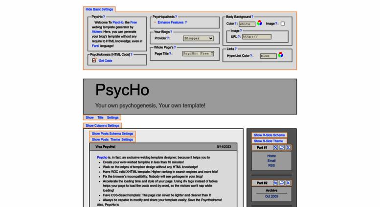 Free blogger template generator.