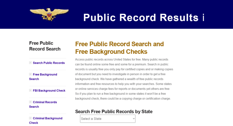 free access public records criminal records