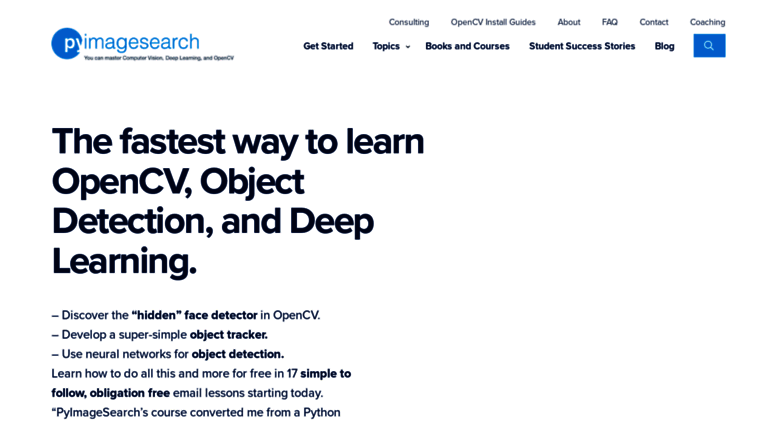 Access pyimagesearch com  PyImageSearch - Be awesome at OpenCV