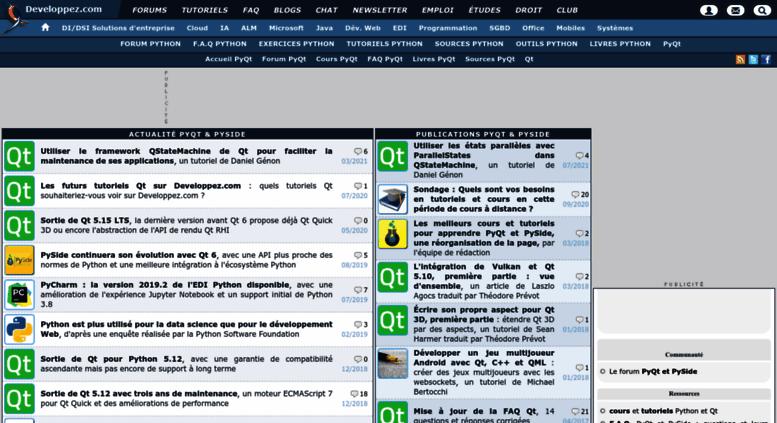 Access pyqt developpez com  Club des développeurs PyQt : actualité