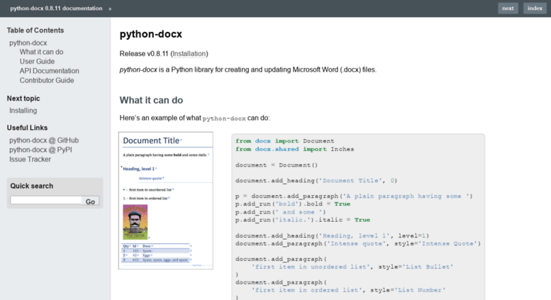 Access python-docx readthedocs org  python-docx — python-docx 0 8 7