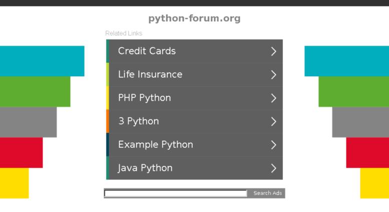 Access python-forum org