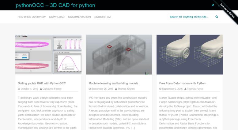 Access pythonocc org  pythonOCC, 3D CAD/CAE/PLM development