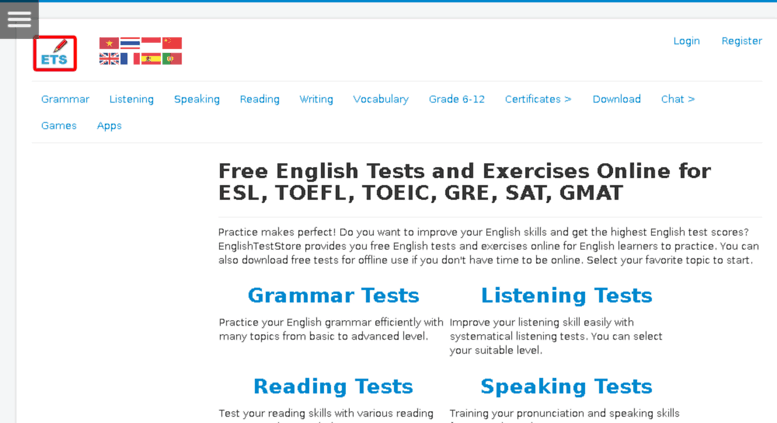 Access q englishteststore net  Free English Tests and