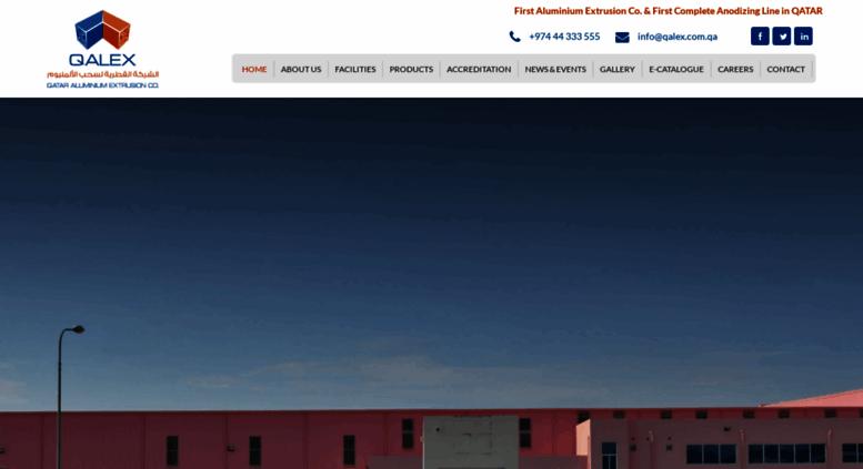 Access qalex com qa  :: QALEX : Qatar Aluminium Extrusion
