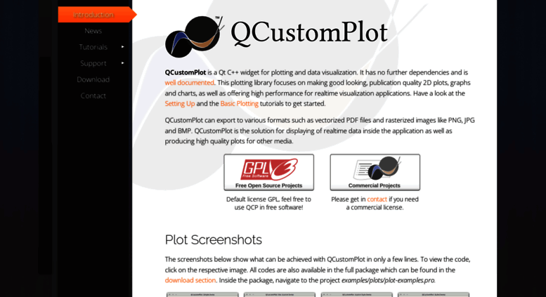 Access qcustomplot com  Qt Plotting Widget QCustomPlot - Introduction