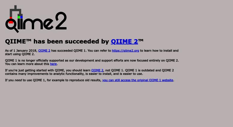 Access qiime org  QIIME
