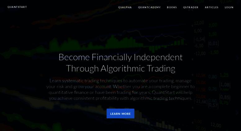 Access quantstart com  Algorithmic Trading, Quantitative