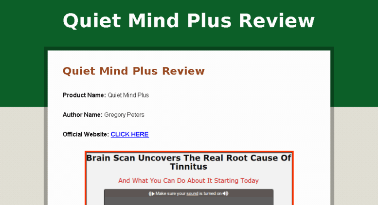 Access Quietmindplusreview Com Quiet Mind Plus Review Does It