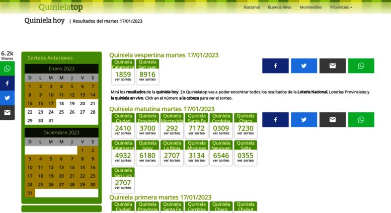 Access quinielatop com ar  Quiniela Hoy - QuinielaTop