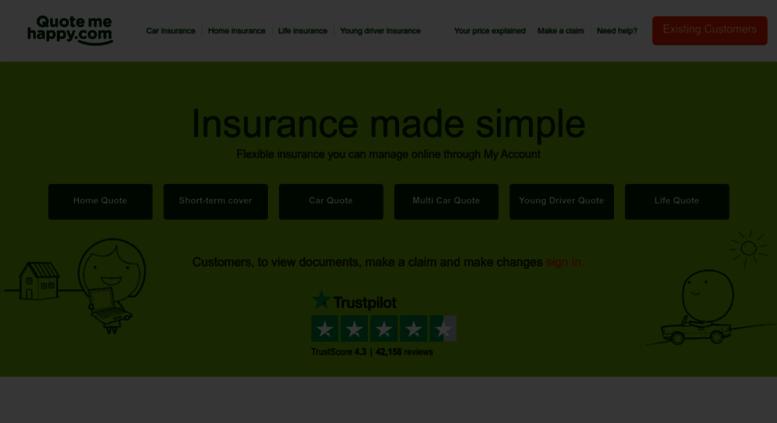 access quotemehappy com cheap online car insurance uk home