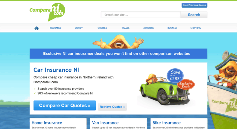 Access Quotes Compareni Com Car Insurance Northern Ireland