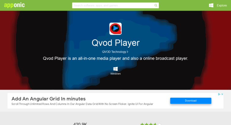 Access qvod-player.apponic.com. Qvod Player Free Download