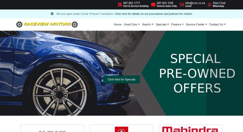 Access raceviewmotors co za  Raceview Motors Alberton - Home Page