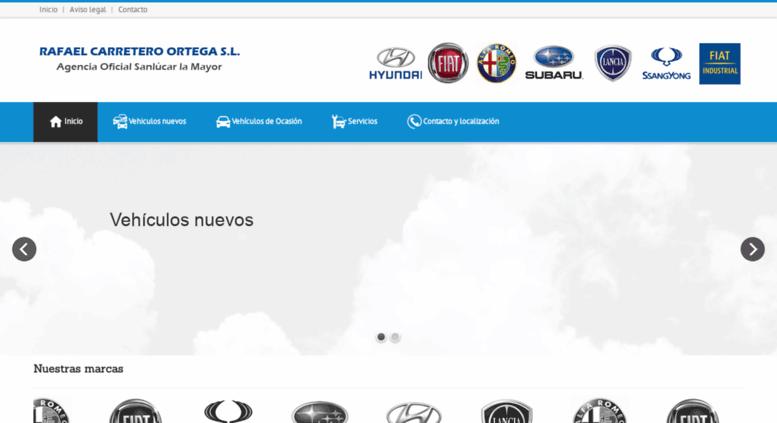 access rafaelcarretero.es. inicio | concesionario oficial fiat