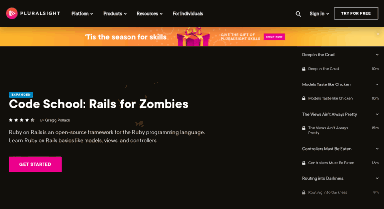 Access railsforzombies org  Code School: Rails for Zombies | Pluralsight