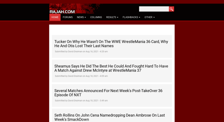 Access rajahwwf com  WWE News, Rumors, Results and Spoilers