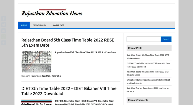 Access rajasthanresults in  Rajasthan Results 2019 8th 10th 12th