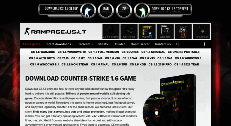 counter strike non steam 1.6 download full