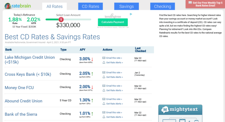 Access ratebrain com  Best CD Rates for May 2019 | Compare
