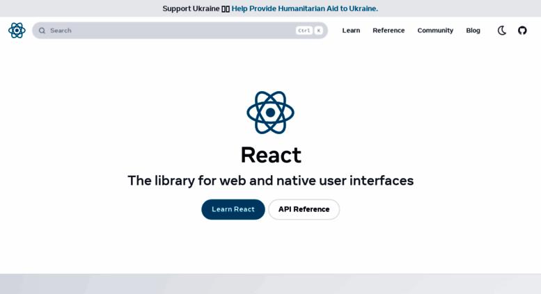 Access reactjs com  React – A JavaScript library for building user