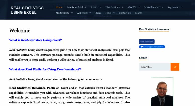 Access real-statistics com  Performing Real Statistical