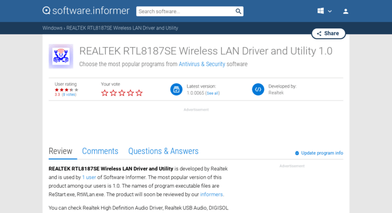 Rtl8187se driver download.