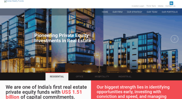 Access realtyfund kotak com  Real Estate Private Equity Funds