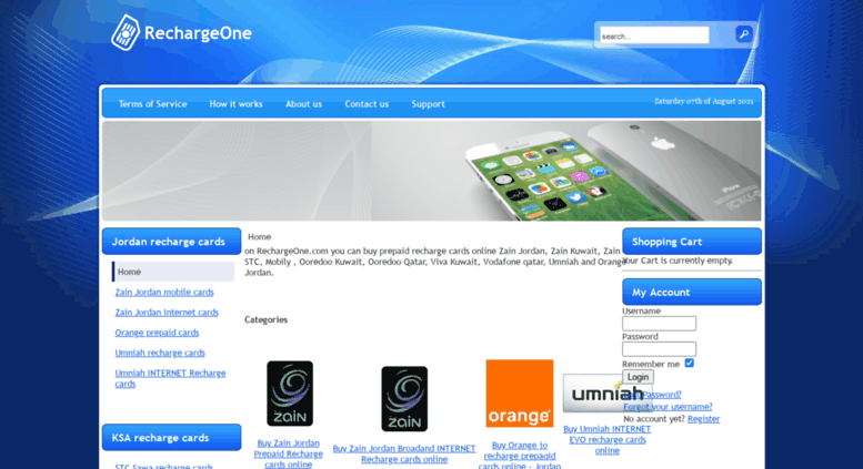 Access rechargeone com  Buy prepaid recharge cards Zain