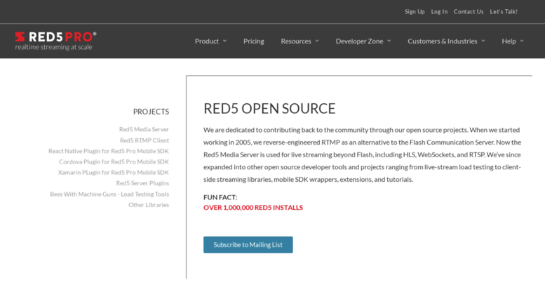 Access red5 org  Red5 Media Server
