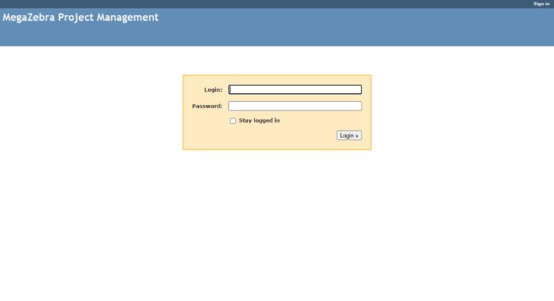 Access redmine megazebra com  MegaZebra Project Management