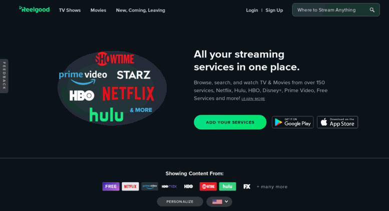 Access reelgoodapp com  Reelgood | Every Streaming Service In One Place