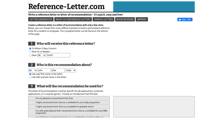 Letter Of Recommendation Generator from pic.accessify.com