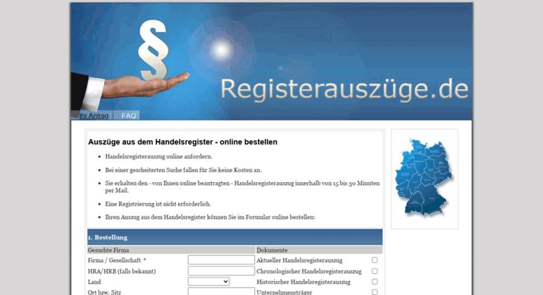 Access Registerauszuege De Handelsregisterauszug Online Bestellen