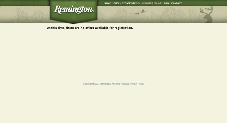 Remington Rebate Access >> Access Remington Rebateaccess Com Remington Rebateaccess Com
