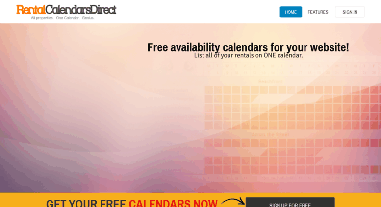 Access rentalcalendarsdirect com  Free Availability, Booking