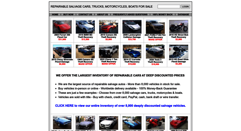 Repairable Cars For Sale >> Access Repairablecars Forsale Com Home Of Repairable