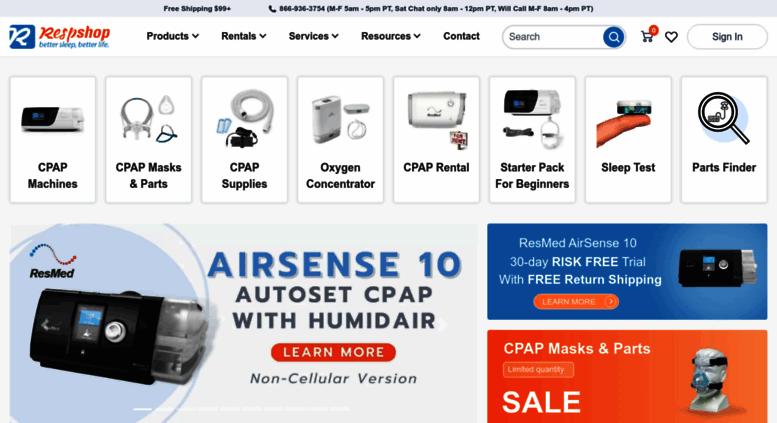 Access respshop com  Cheapest CPAP Machines & Supplies