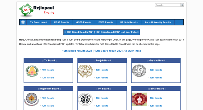 Access results rejinpaul info  10th result 2019 | 12th