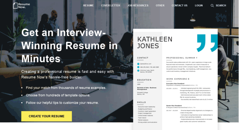 Access Resume Now Com Build A Resume In 15 Minutes With The
