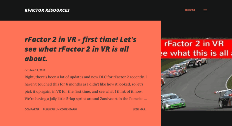 Access rfactoresources blogspot com  rFactor Resources Novedades