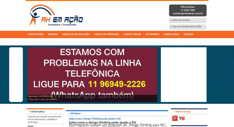 Access rhemacao.com.br. RH EM AÇÃO - 88d99b68060d3
