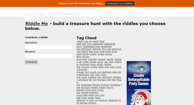 Access riddlesandanswers treasurehuntriddles org  Riddles