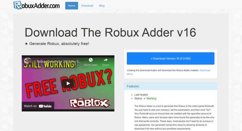 Access Robuxadder Com Roblox Tips Cheats Hacks And Robux