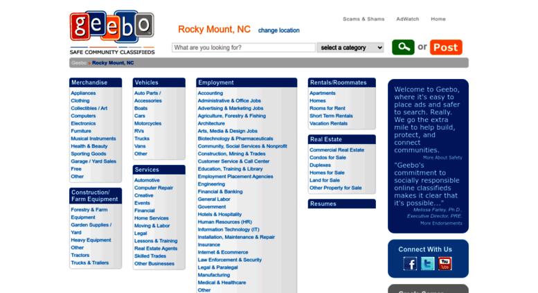 Access Rocky Mount Nc Geebo Com Rocky Mount Nc Free Classifieds Ads
