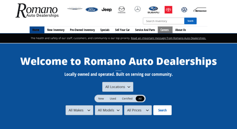 Used Car Dealerships Syracuse Ny >> Access Romanocars Com New Used Cars Toyota Mercedes Benz