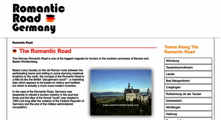Access Romanticroadgermany Com Romantic Road Germany Information
