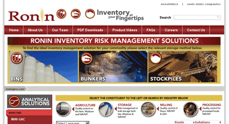 Access roningms com  Inventory Management Solutions - Ronin